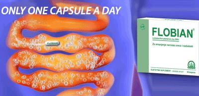 Flobian – Frequent cramps, unpleasant gases, swollen abdomen