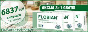 Akcija3+1 kutija gratis - Flobian - dugotrajno rešenje za nadutost, grčeve i gasove